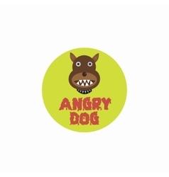 Angry dog plate vector