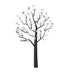 Autumn tree icon gray monochrome style vector image