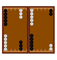 Backgammon game on white background vector