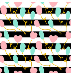 balloon stripe seamless pattern vector image