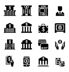 banking financial icon set vector image