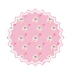 bear cartoon seal stamp vector image