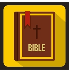 Bible icon in flat style vector