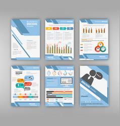 blue business presentation template vector image