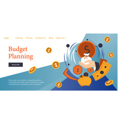 Budget planning for future financial education vector
