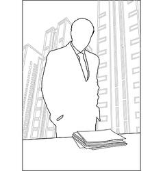 Businessmen Office silhouette vector image