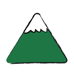 Cartoon mountain snow nature image vector