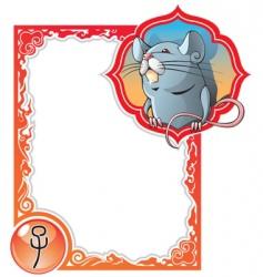 chinese horoscope frame series rat vector image