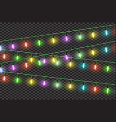 christmas lights effectsgarlands vector image