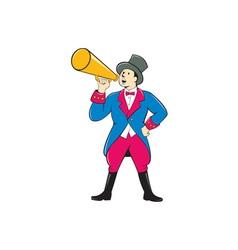 Circus Ringmaster Bullhorn Standing Cartoon vector
