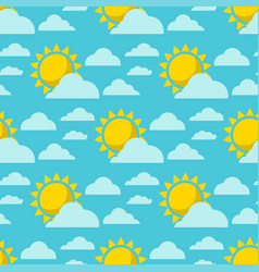 clouds sun weather cloudy summer blue sky vector image