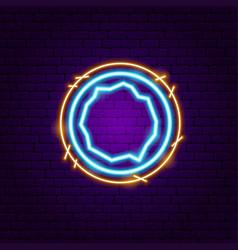 coconut fruit neon sign vector image