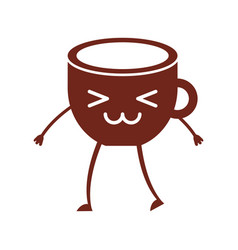 Coffee cup kawaii character vector