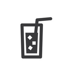 cold drink icon vector image