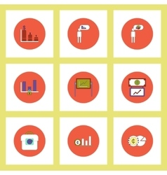 Collection of icons in flat style infographics and vector image