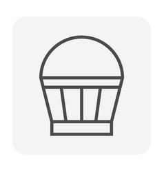 concrete bucket icon vector image