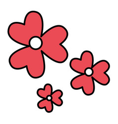 Cute flowers pattern icon vector
