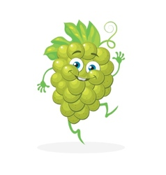 Cute grapes on a white background character vector image