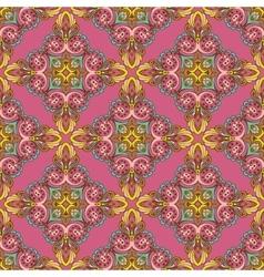Damask ornament seamless pattern vector