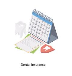 Dental insurance vector