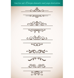 Design elements and page decorations set vector