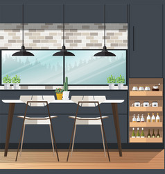 Dining room design vector