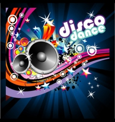 disco dance background vector image