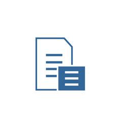 document file logo vector image