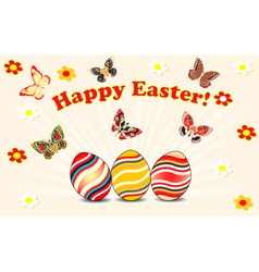 Easter card with eggs vector
