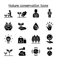 eco friendly nature conservation environmentalist vector image