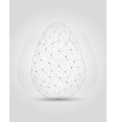 Egg created from messy connected dots vector