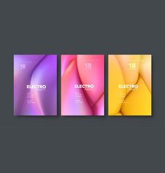 electronic music festival ads poster set vector image