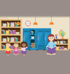 elementary school cartoon vector image