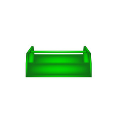 empty wooden toolbox in green design vector image vector image