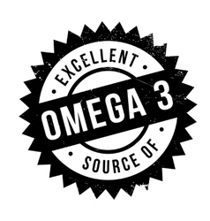 Excellent source of omega 3 stamp vector