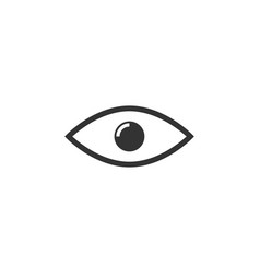 eye icon graphic design template vector image