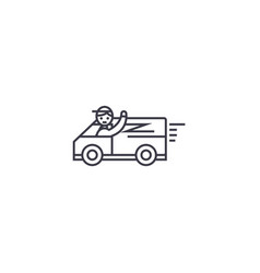 fast delivery service line icon sign vector image