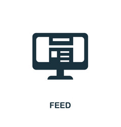 Feed icon simple element from social media vector