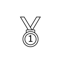 first place medal icon element of racing for vector image