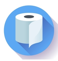 Flat toilet paper icon vector
