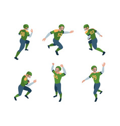 football players isometric sport characters vector image