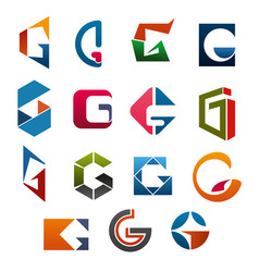G letter icons template company brand name vector