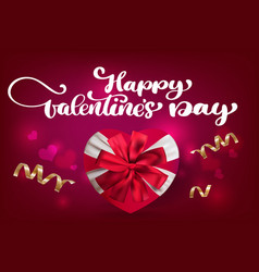 happy valentines day romantic greeting card with a vector image