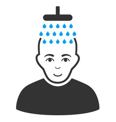 Head shower flat icon vector