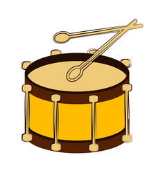 isolated drum sketch musical instrument vector image