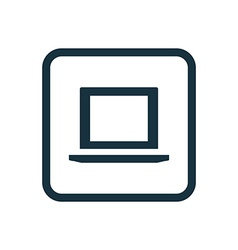 Laptop icon Rounded squares button vector