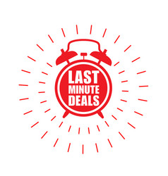 Last minute deals sticker or label alarm clock vector