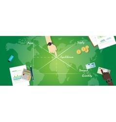 Market equilibrium balance economy concept vector