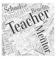 Mentoring teachers Word Cloud Concept vector