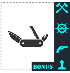 multitool icon flat vector image